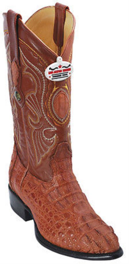 345edf4c7f2 Product# KA6932 cai ~ Alligator skin Hornback Cognac brown color shade  Vintage Authentic Los altos Cowboy Boots Western Riding