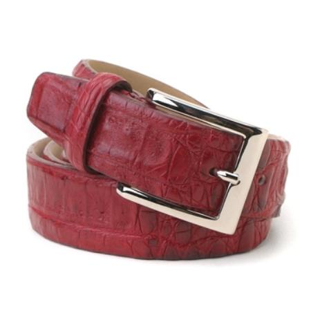 Product# DB7034 Geranium cai ~ Alligator skin Hornback Belt