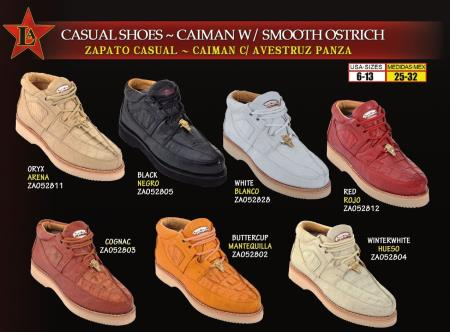 Product# EWQ2 Oxfords High Top Exotic Skin Sneakers for Authentic Los altos Genuine cai ~ Alligator skin w/ Smooth Ostrich Lace Up trendy casual Shoes for Online