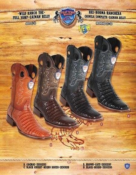0d41a8014a2 Product# PN96 Ranch Toe Genuine Cai Belly Cowboy Western Boots Multi-color