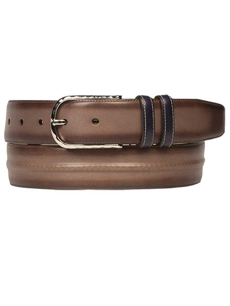 Product# JA295 Mezlan Brand Men's Genuine Calfskin Brown Multi Skin Belt