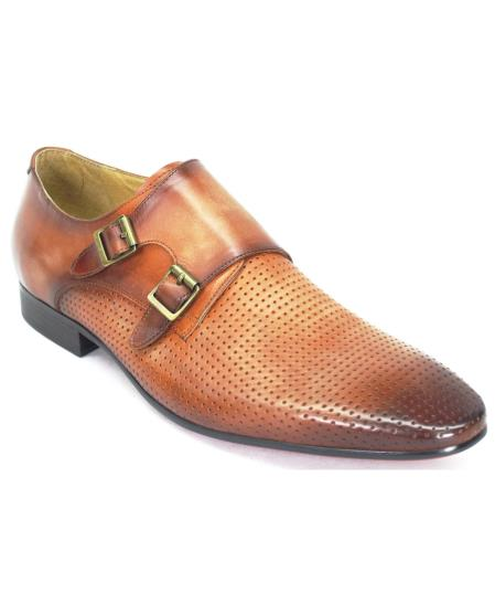 Carrucci Mens Genuine Calfskin