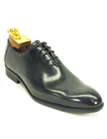 Carrucci Black Mens Genuine