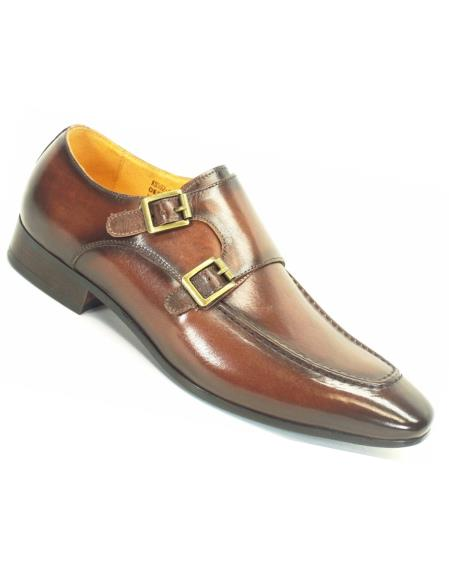Carrucci Chestnut Mens Genuine