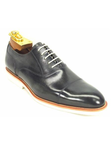 Carrucci Mens Grey Genuine