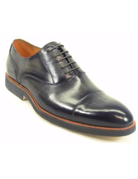 Carrucci Mens Grey Genuine