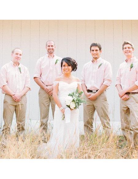 Mens casual groomsmen attire