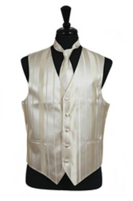 Product# VS4022 Vest/Tie/Bowtie Sets (Champagne Tone on Tone)