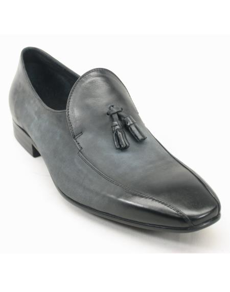 Carrucci Mens Charcoal Genuine