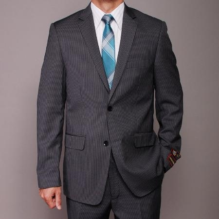 Charcoal Color 2 Button Suit