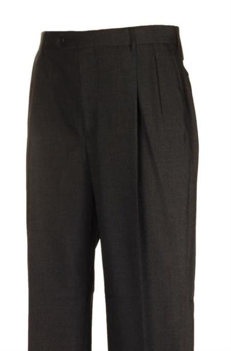 Charcoal Pleated Dress Pants