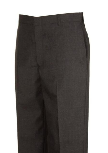 Product# JSM-4430 Clothing Flat Front Charcoal Dress Pants