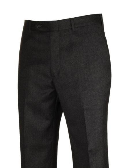 Product# JSM-4442 110's Charcoal  Polyster Fabric Dress Slacks Wool Clothing Flat Front Dress Pants