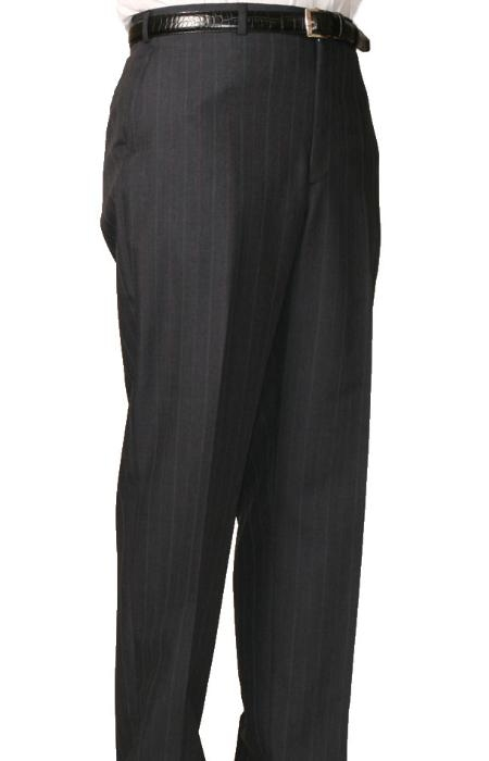 Product# MZ9500 Dark Grey Masculine color Bond Flat Front Trouser