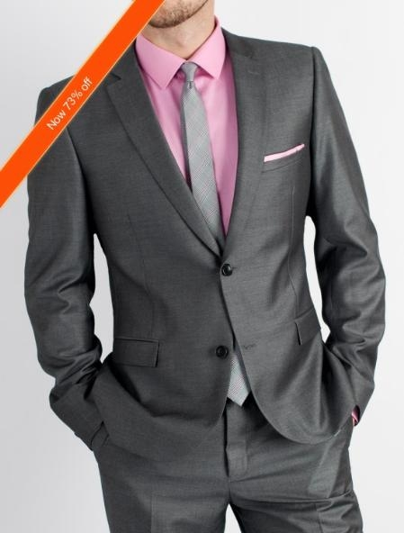 Dark Grey Masculine color Slim narrow Style Fit Suit