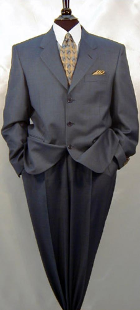 Three Button Charcoal Color Suit