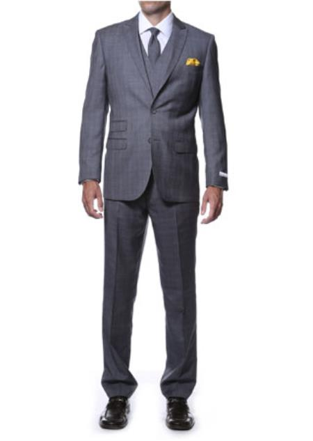 Charcoal Color Window Pane Suit