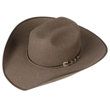 Product# 9KS2 Shaw Dirt Felt Cowboy Hats brown color shade