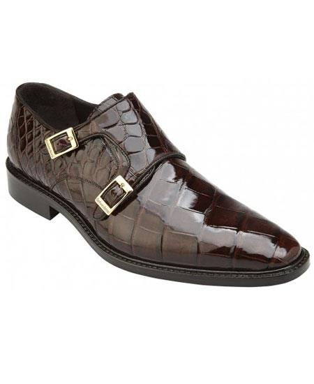 Mens Double MonkStrap Chocolate