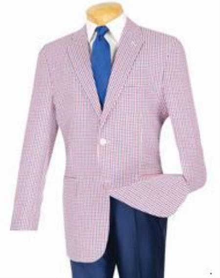 Classic Fit Sportcoat Red-Blue