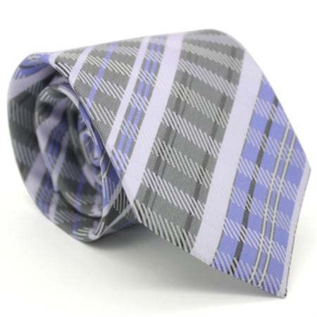 Product# KA8656 Classic Slim narrow Style Purple color shade Glen Necktie with Matching Handkerchief - Tie Set
