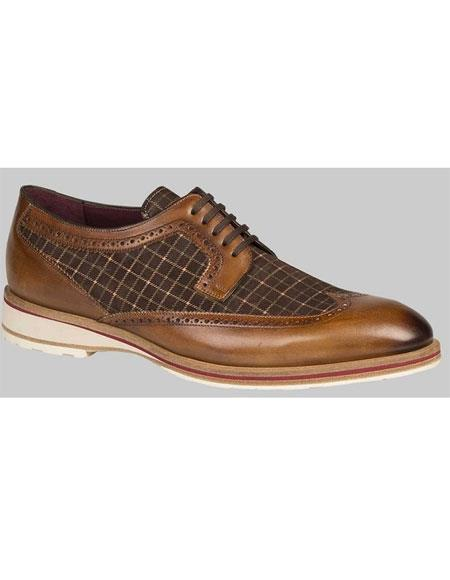 Mens Leather Sole Cognac/Brown