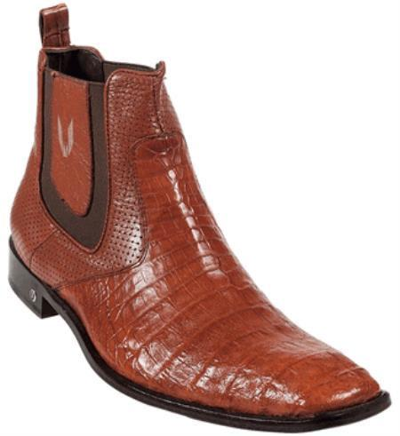 Product# KA2698 Genuine Cognac cai ~ Alligator skin Belly Dress Boot