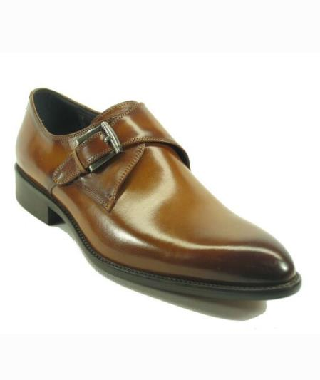Mens Fashionable Carrucci Cognac