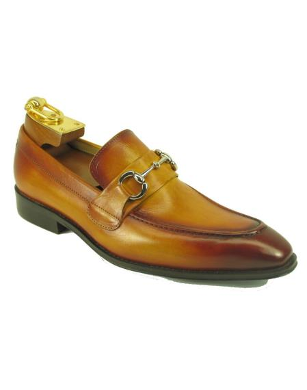Mens Cognac Leather Fashionable