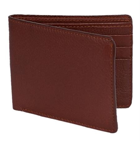 Product# CKL1782 Wallet ~ billetera ~ CARTERAS Cognac Genuine Elk Card Holder Wallet