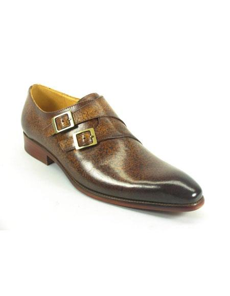 Mens Carrucci Fashionable Cognac