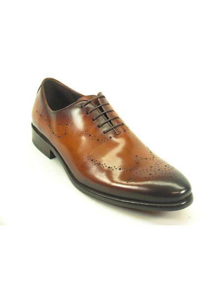 Mens Fashionable Cognac Lace