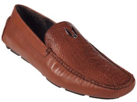 Cognac Genuine Ostrich Leg