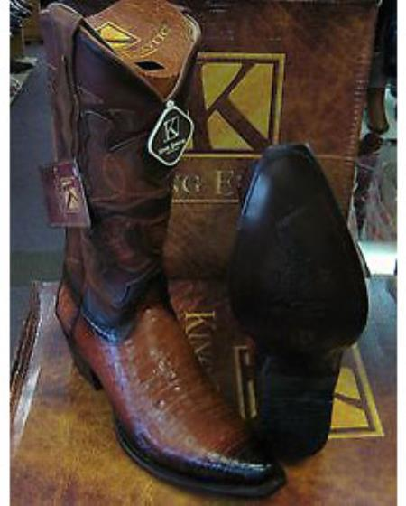 King Exotic Boots Cognac