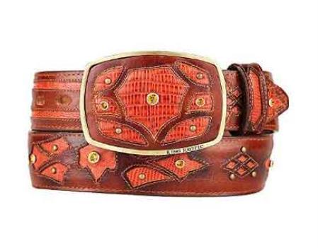 Fashion Western Belt Cognac