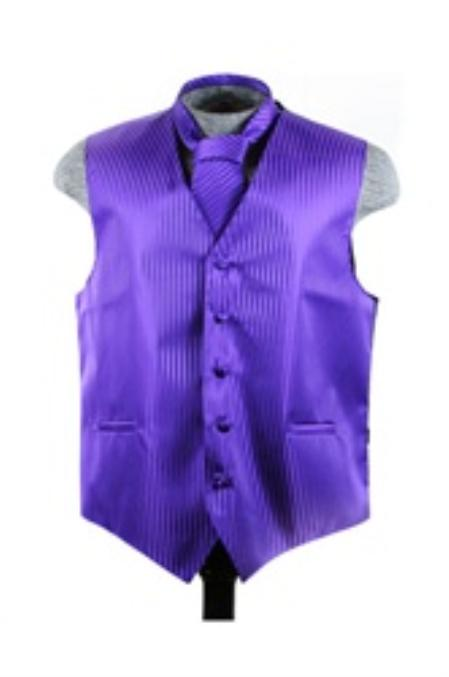 Vest Tie Set Purple