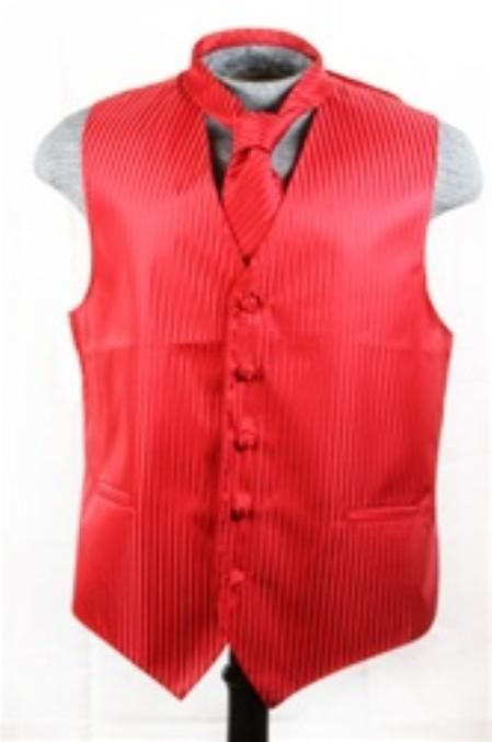 Vest Tie Set red