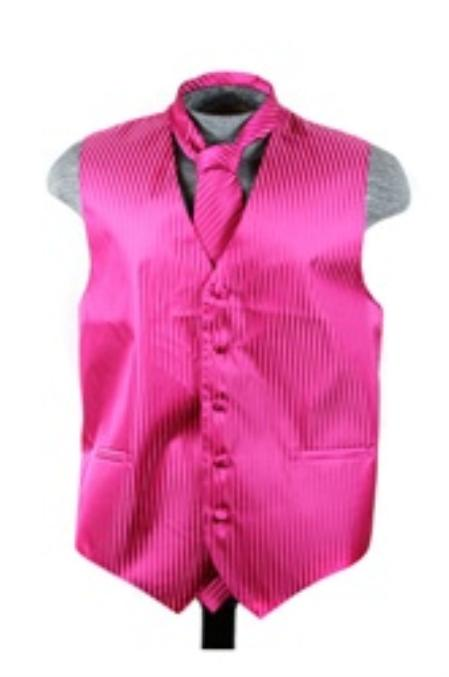 Vest Tie Set red