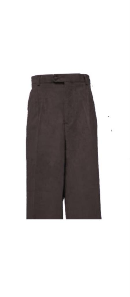 Corduroy Black Pleated Pants