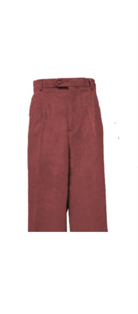 Corduroy Brown Pleated Pants