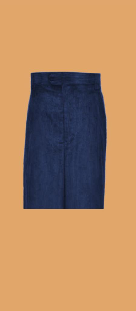 Corduroy Navy Blue Wide