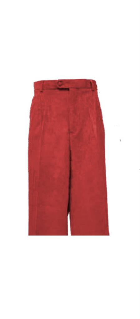 Corduroy Rust Pleated Pants