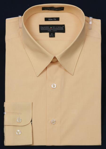 Product# KA2055 Slim narrow Style Fit Dress Shirt - Corn Color