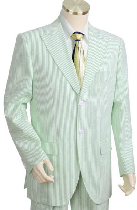 Cotton Summer Seersucker Fabric Suits for Online whitelime mint