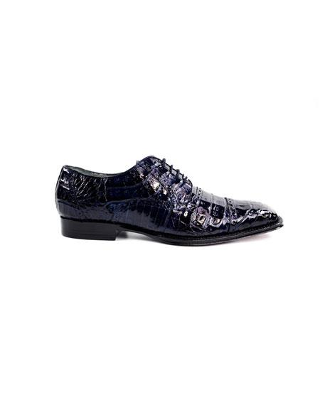 Mens Lace-Up Navy Cushioned