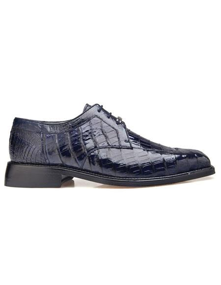 Mens Genuine Crocodile Lace