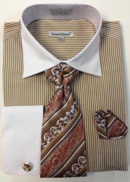Product mk756 daniel ellissa thin stripes big tall french for Big and tall french cuff dress shirts