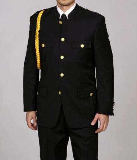 Cadet-Uniform Liquid Jet Black