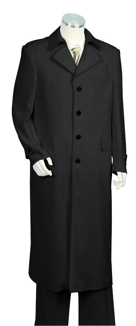 Product# BS8710 3 Piece Vested Liquid Jet Black Long length Zoot Suit For sale ~ Pachuco Mens Suit Perfect for Wedding