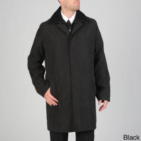 Product# RC-1724 'Rudy' Microfiber Raincoat Liquid Jet Black